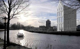 Bis Anfang 2017 soll das erste Amsterdamer Kanalhaus der Welt fertig gedruckt sein.