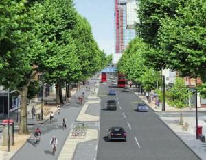 Start für Europas längste urbane Fahrradstrecke