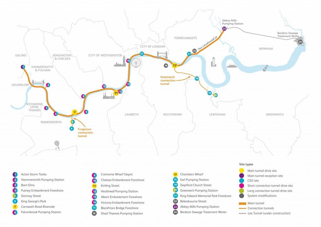 Geplante Route des Superkanals