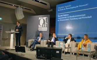 Wien hat bereits eine digitale Agenda. Jetzt fehlt nur noch eine für ganz Österreich, sagt Harald Mahrer auf den Medientagen 2015.
