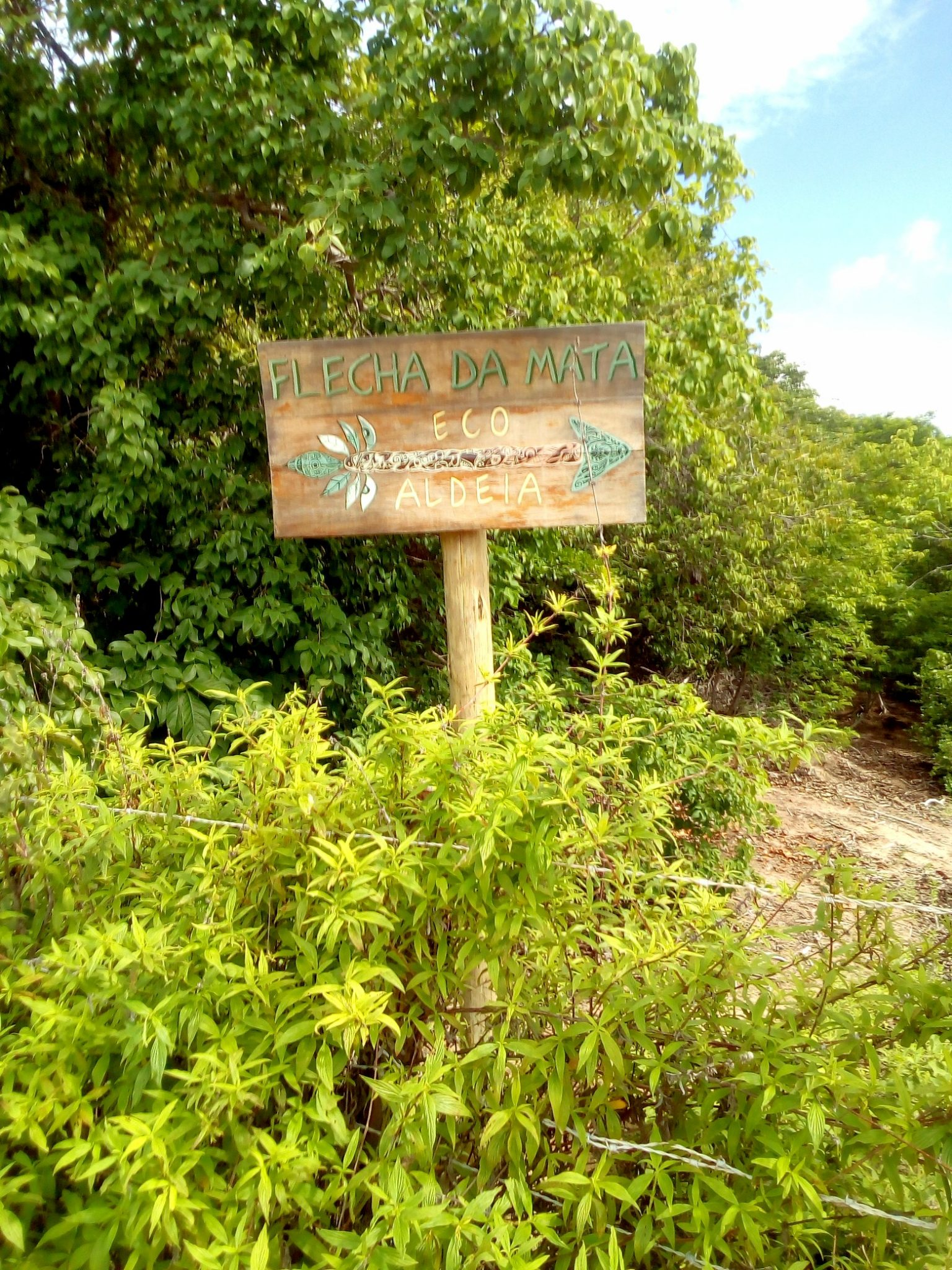 "The Eco Farm ""Flecha da Mate"" is tricky to reach. You feel like in the middle of nowhere entering it."