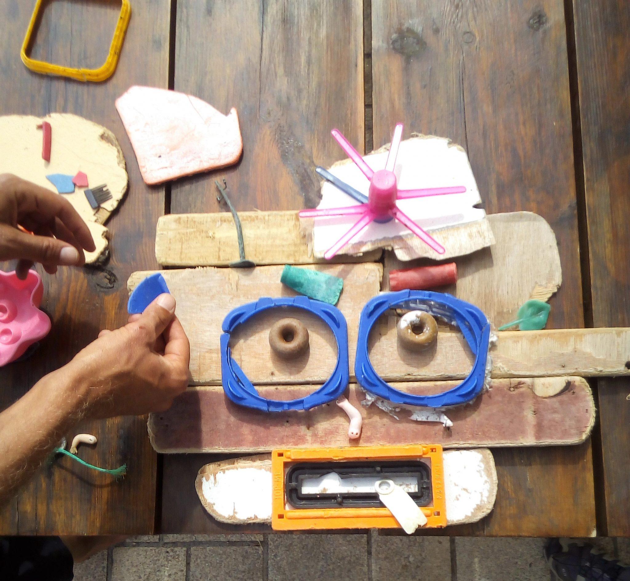 Das macht er auch oft in Kindergärten und Schulen, wobei auch die Kids kreativ mithelfen können.