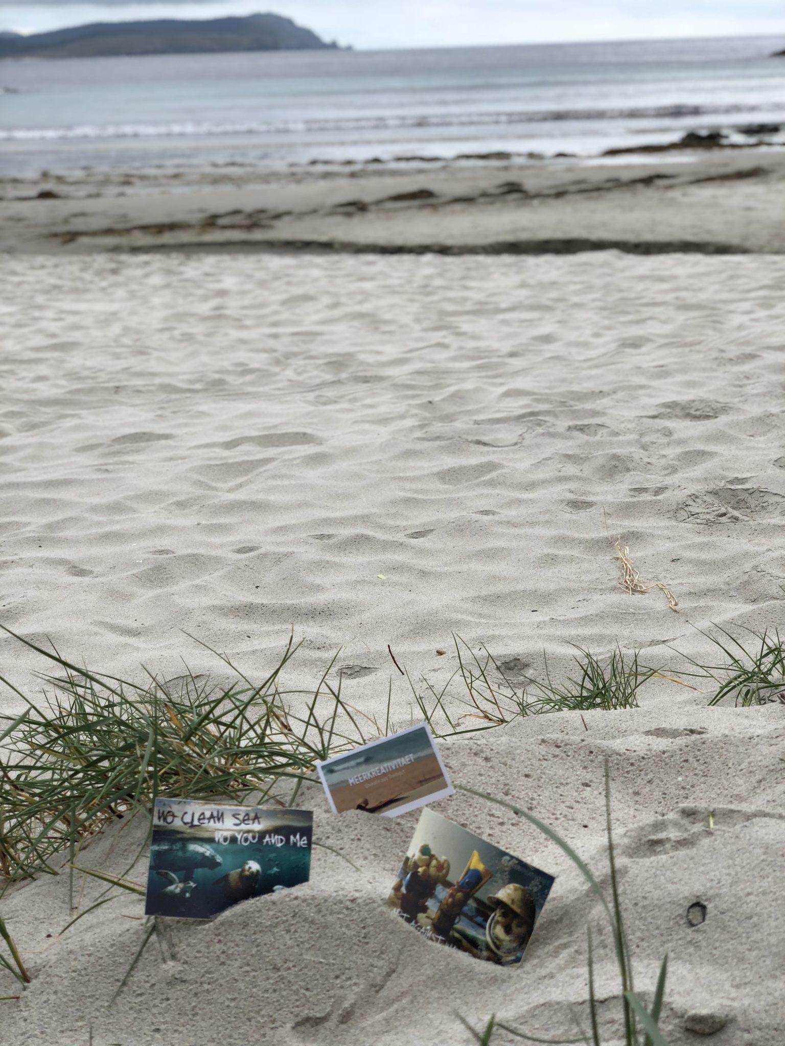 Nachher: Ein sauberer Strand. Playa Nemiña, Spanien.