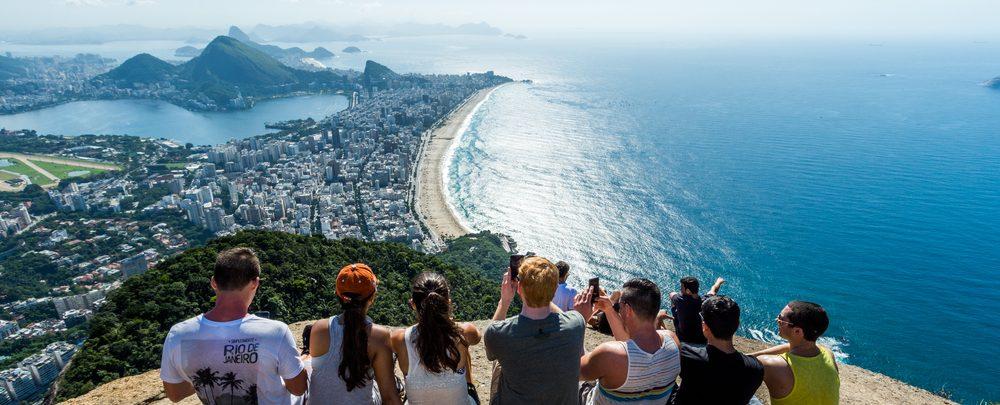 Touristen machen Fotos in Rio de Janeiro