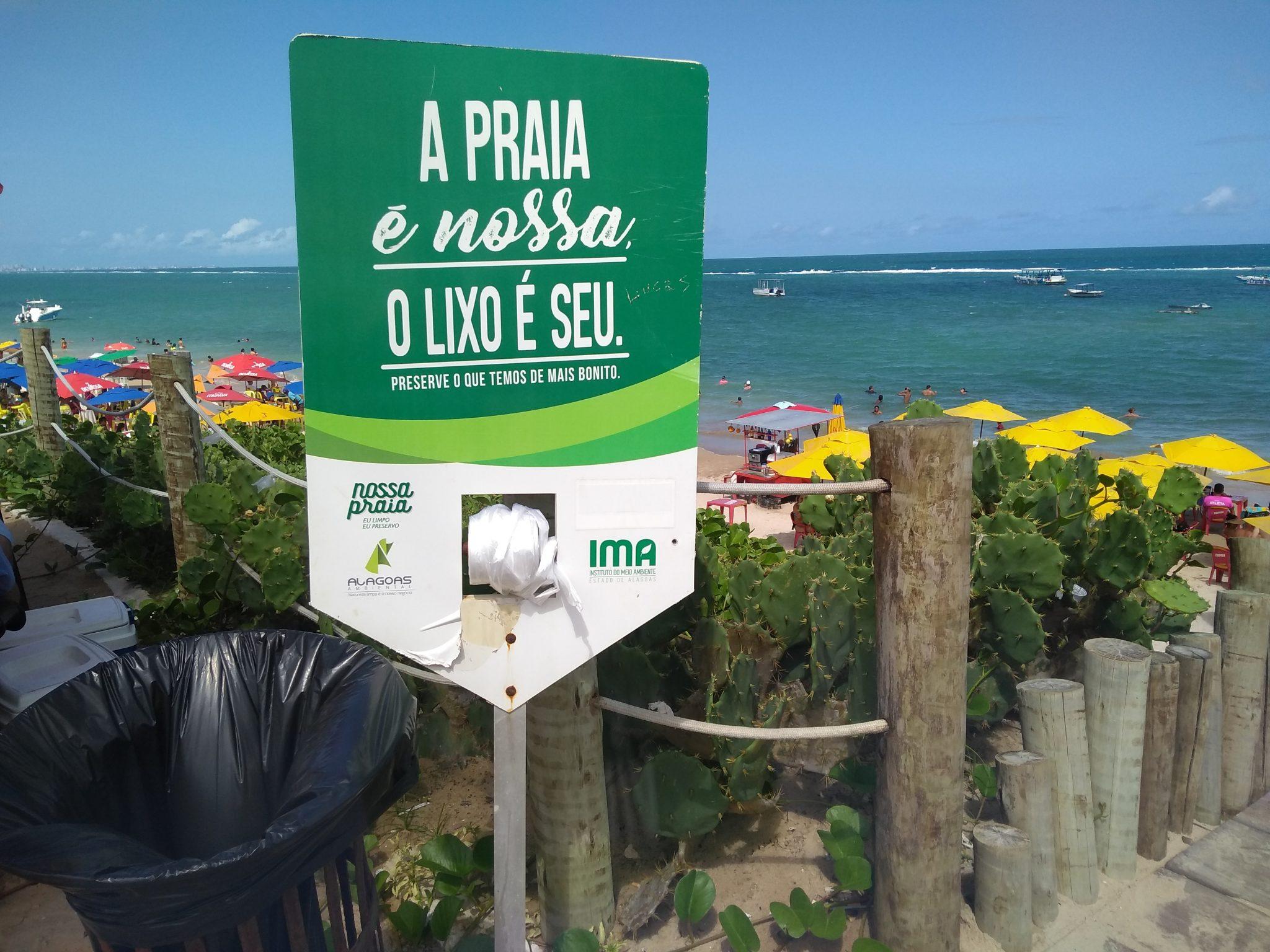 Der Strand gehört uns - der Müll Ihnen
